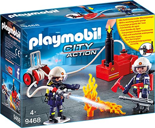 Playmobil 9468 - Squadra dei Vigili del Fuoco con Pompa D'acqua