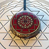 Red Shri Chakra Tripura Sundari Orgonite Pendant