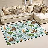 coosun Dinosaurier Szene Bereich Teppich Teppich rutschfeste Fußmatte Fußmatten für Wohnzimmer Schlafzimmer 78,7x 50,8cm, Textil, multi, 31 x 20 inch