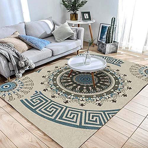 Zmymzm Moderner dekorativer Teppich,großes rutschfestes dekoratives Wohnzimmer, klassisches Innendesign, 120 cm × 160 cm,B,120cm×160cm