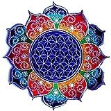 ImZauberwald Toppa con il fiore della vita, 20cm, fluorescente, Fraktal Mandala, L