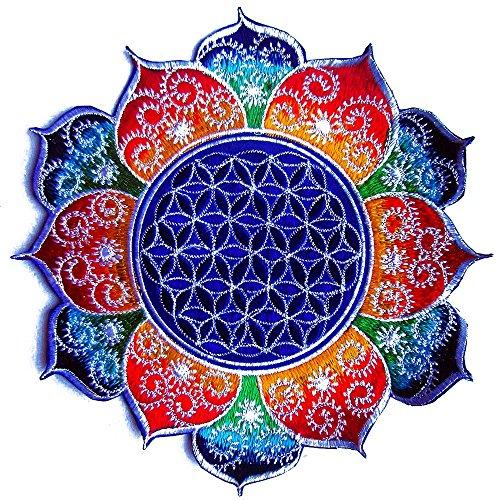 flower-of-life-patch-imzauberwald-fractal-parche-20-cm-uv-amarillo-rainbow-fractal-mandala