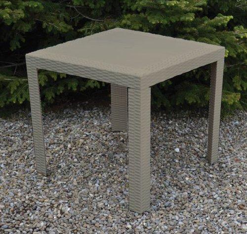 de donato 'Dedonato – Table en résine Imitation rotin Taupe Saturne