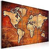 murando - Acrylglasbild Weltkarte 120x80 cm - 3 Teilig – Glasbilder - Wandbilder XXL - Wandbild - Bilder - Weltkarte Welt Karte Kontinente Landkarte k-A-0066-k-b 120x80 cm