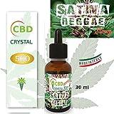E-liquido Marihuana Cannabis Gangja CBD CRYSTAL (sin THC) 500mg PURE CBD > 99% - 30ml - Liquido para cigarrillo electronico. E-liquid SIN NICOTINA. Sabor Sativa REGGAE no nicotine no tobacco