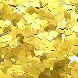 TecUnite Confeti de Mesa Cuadrado de Papel de Alumino Dorado Confeti Metálico Brillante para Materiales de Fiesta de Boda, 1,76 oz