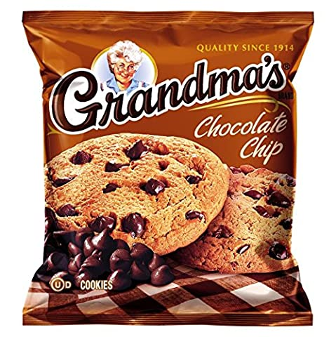 Grandma's Big Cookie, Chocolate Chip, 2.5-Ounce Packages (Pack of 60)