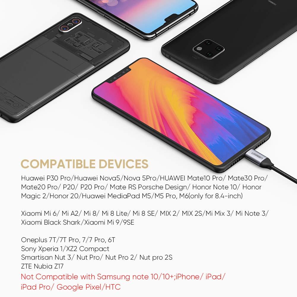 Cable de Audio 2 en 1 Aux /& Carga Rapida para Huawei P30 Pro// P20// P20 Pro//Mate 20 Pro Adaptador USB Tipo C a Jack 3.5mm Auriculares UGREEN Jack USB C Xiaomi Mi 9// Mi 8// Mix 2