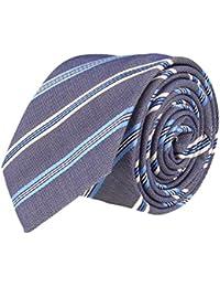 OTTO KERN Schmale Krawatte Clubkrawatte Marine Blau Gestreift