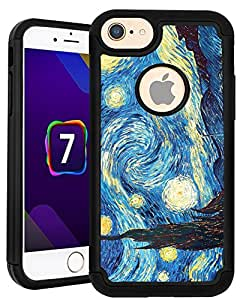 CorpCase iPhone 7 Case / iPhone 7 (4.7) Inch Case - Starry Night / Hybrid Unique Case With Great Protection