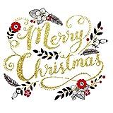 Merry Christmas–Weihnachten Blattwerk von Rachel ellen- Weihnachten Karte