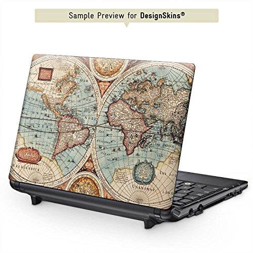 Acer Switch 11 Aufkleber Schutz Folie Design Sticker Skin Vintage Weltkarte Karte Map