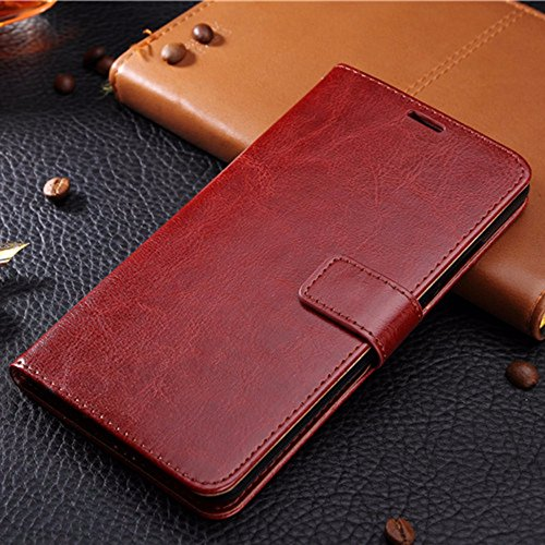 NKARTA Gionee S6 Pro Flip Cover, Vintage PU Leather Wallet Book Cover Case for Gionee S6 Pro (Brown)