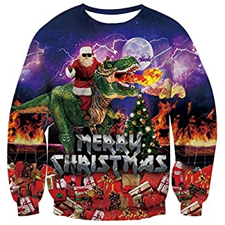 OPCOLV Unisexo Jersey Navideño Ugly Christmas Sweater 3D Sudaderas Xmas Jumper Sweater Pulóver Jumpers S-3XL