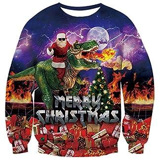 OPCOLV Unisexo Jersey Navideño Ugly Christmas Sweater 3D Sudaderas Xmas Jumper Sweater Pulóver Jumpers S-3XL