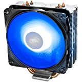 DEEP COOL GAMMAXX 400 V2 Blue, CPU Kühler mit 4 Heatpipes, Prozessorlüfter für Intel und AMD CPUs, 120mm PWM Lüfter…