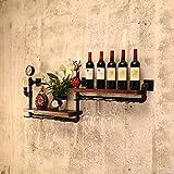 AIDELAI Armadietti Scaffale per parete sospeso a parete in ferro Retro scaffale industriale per parete a parete per TV a parete con tubo di acqua eolica (dimensioni : A)