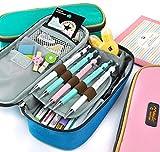 Rashen (TM) Grand Trousse de Rangement à crayons de maquillage Pochette sac à fermeture éclair (rose)