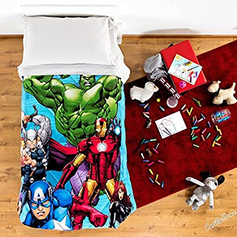 Funda para edredón de cama individual, microfibras individual invierno Vengadores de Marvel