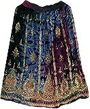 Bunter Pailletten die Damen Indien Boho Hippie Zigeuner Langen der Sommer des Rayon Rock aus ethnischen Bauchtanz, Maxi Skirt, Maxi Skirt Medium