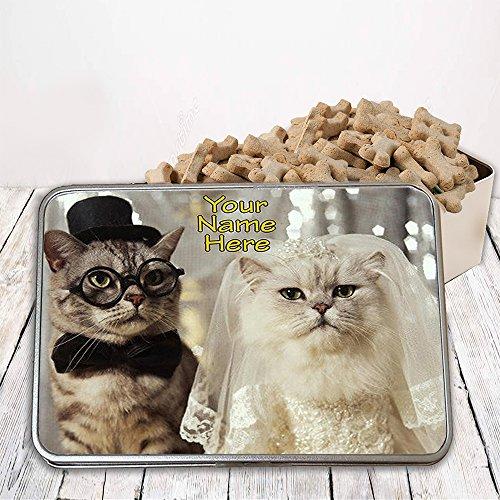 Wedding gifts with cats amazon personalised funny tabby persian cat wedding st832 pet treat cat dog bird food tin box gift junglespirit Choice Image