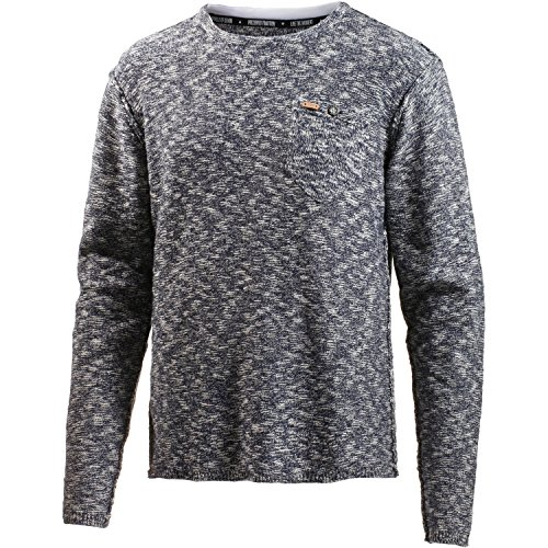 M.O.D Herren AU16-PL537 Pullover, Blau (Stormblue Melange 1571), Medium Inside Out Long Sleeve Sweatshirt
