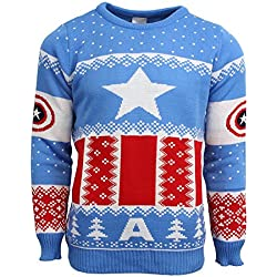 Official Marvel Captain America Christmas Jumper/Ugly Sweater - UK XS/US 2XS