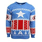 Marvel Official Captain America Christmas Jumper/Ugly Sweater - UK XL/US L