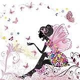 Twuky 5D DIY Diamond Set Full Diamond Diamond Painting Living Room Wall Stickers,Flower Fairy(12X12inch/30X30CM)