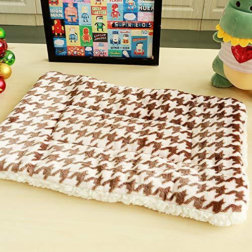 Guojiahao Hundedecke Fleece Weiche Haustierdecke für Hunde Katzen Bett Für Kleine Mittelgroße Hunde Kissen Warm Pad, Houndstooth 47 * 42 cm -