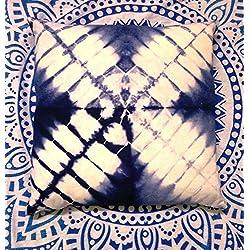 Tie Dye cojines, funda de cojín de algodón y manta, Exterior, decoración, Shibori fundas de almohada, almohada bohemio de almohada de 16x 16, Indigo
