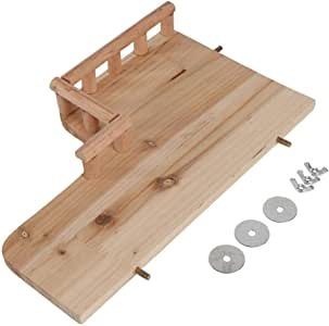 Ichiias Pet Platform with Railing Wooden Toys for Hamster Small Animals Climbing