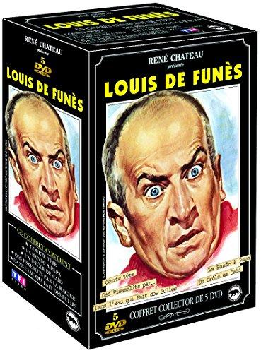 Coffret louis de Funès : dans l'eau qui fait des bulles ; courte tete ; un drole de caid ; la bande a papa ; les pissenlits par la racine