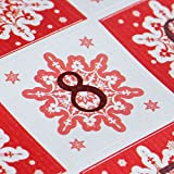 Luck and Luck Xmas Stickers Twelve Days of Christmas Stickers Advent x 35