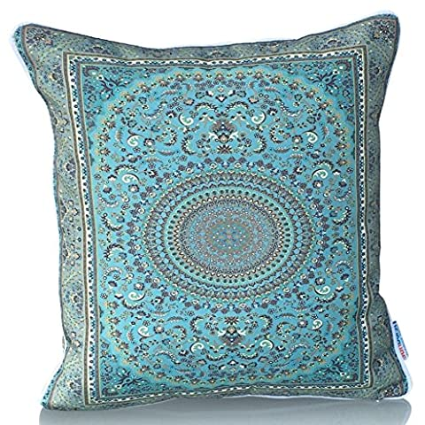 Sunburst Outdoor Living 45cm x 45cm INSIGHT Classical Decorative Throw Pillow Cushion Cover for Couch, Bed, Sofa or Patio - Only Case, No Insert