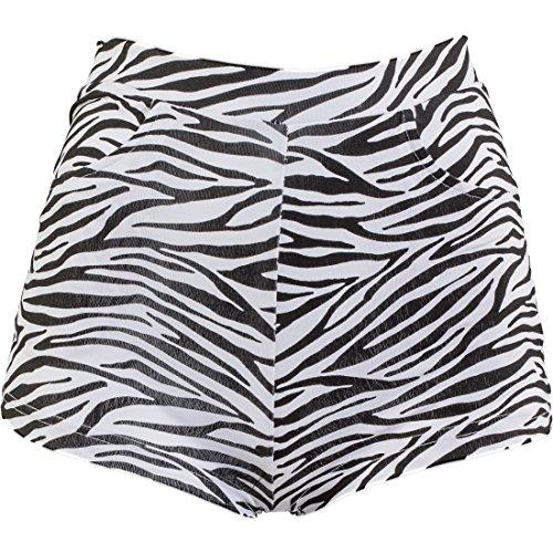Amakando Hotpants Zebraprint Shorts Zebralook S/M 34 – 40 sexy Zebra Hot Pants Panty Animal Print Party Outfit Damen Faschingskostüm Kurze ()