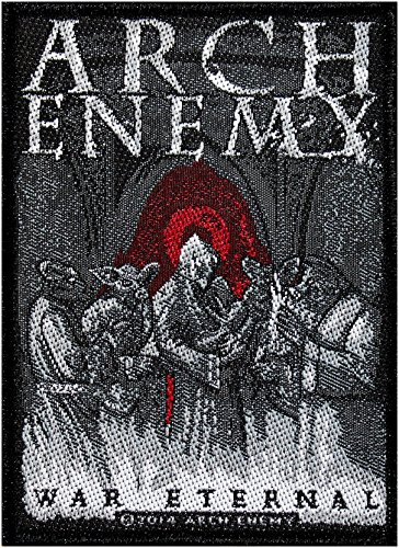 ARCH ENEMY Aufnäher WAR ETERNAL Patch gewebt 7,5 x 10 cm -