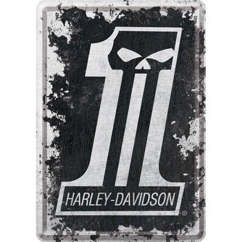 harley-davidson-skull-no1-logo-postcard