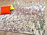 Funky Designer Teppich Action Painting Bunt in 4 Größen