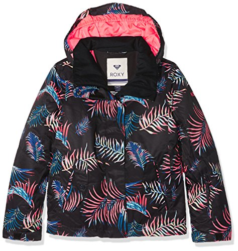 Roxy Mädchen Girl JK Jetty-Snow Jacket 8-16, Mehrfarbig (anthracite), 14/XL