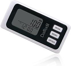 Daffodil HPC650 Contapassi multifunzione - Coach personale elettronico - Pedometro preciso con memoria interna di 7 giorni, calcola le calorie bruciate e il progresso giornaliero