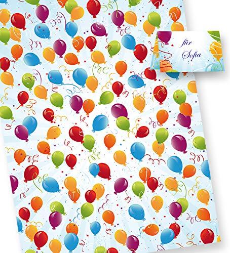 PREMIUM Geschenkpapier Geburtstag (10+3 Bogen extra) AKTION JETZT 30{af4119d23481fe28d24be7e076dcd956255b29dc751a296db44d6fbf8a925052} MEHR, Format 50 x 70 cm (gefalzt auf 25 x 35 cm), für Party und Kinder