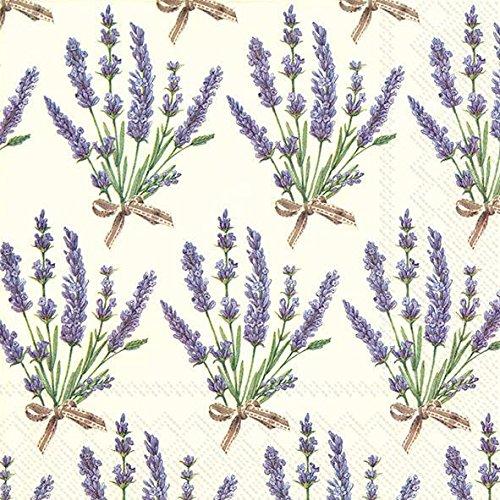 IHR Serviette Lavendel-Bouquet 20 Stück Bouquet Serviette