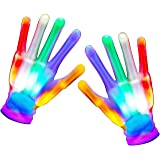 Teaisiy Gifts for 3 4 5 6 7 8 9 Year Old Boys Girls Boys Girls Toys Age 3-10 Funny Presents for 3-12 Year Old Boys Girls Finger Hands Funny Gifts for Boys Girls Led Flash Gloves Small