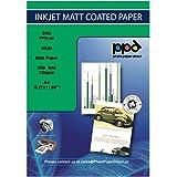 PPD 100 Feuilles x A4 Papier Photo Couché Mat 120g , Impression Jet D'Encre, Certifié FSC, Tirage Quotidien Abordable, Maxi P