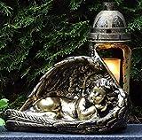 ♥ GRABLAMPE GRABLATERNE Engel MASSIV 30,0cm Bronze INCL. GRABKERZE Grablicht GRABDEKORATION GRABSCHMUCK GRABLEUCHTE Laterne Lampe Kerze LICHT