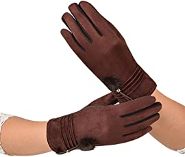 Forthery Gloves Soft Screen Touch Glove Warm Lined Thick Warm Winter Gloves