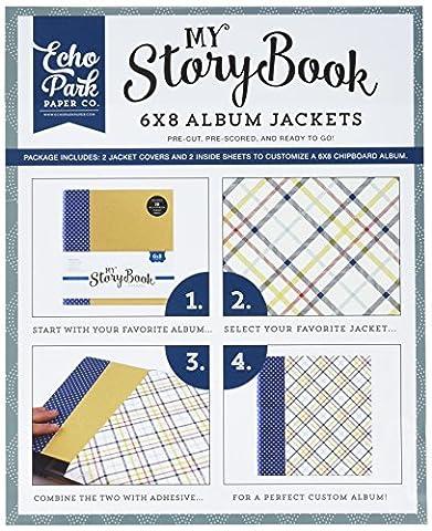 Echo Park papier My Story Album pour femme 15cm x 8-inch-petticoats et Pinstripe Boy Plaid, d'autres, multicolore