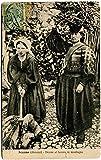 1920 Scanno Abruzzi Donne Lavoro Montagna Vecchi Abiti FP B/N VG ANIM Cartolina Postale