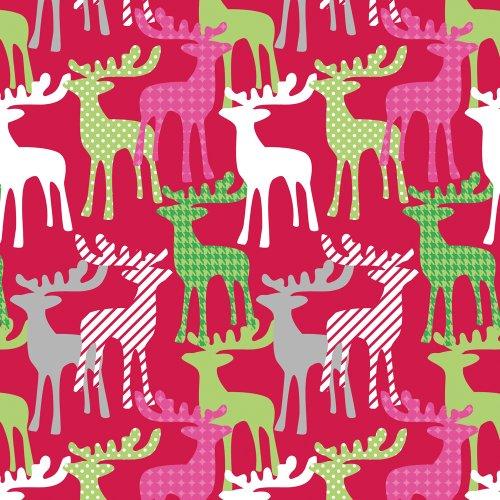 The Gift Wrap Company 76-7087 Geschenkpapier, Rentier, Jumbo-Rolle, 2,7 m lang